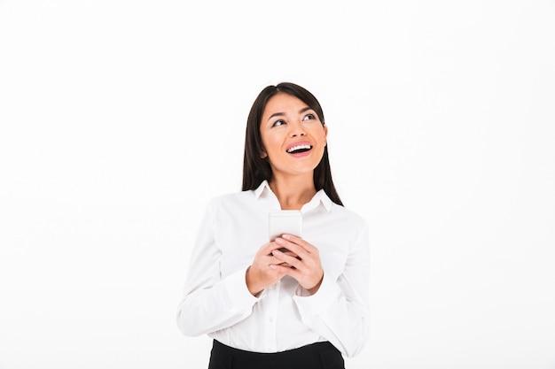Ciérrese encima del retrato de un asiático alegre
