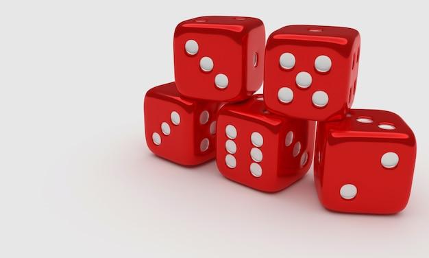 Cinco dados rojos de ludo