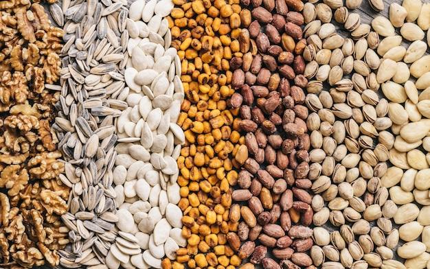Cinco diferentes tipos de nueces