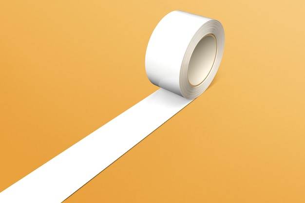 Cinta adhesiva blanca en blanco para embalajes y paquetes.