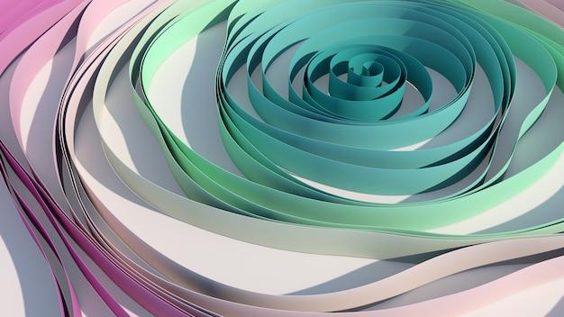 Cinta azul y rosa. fondo blanco. ilustración abstracta,