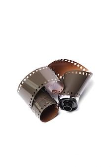 Cinta de cámara de carrete vintage en blanco