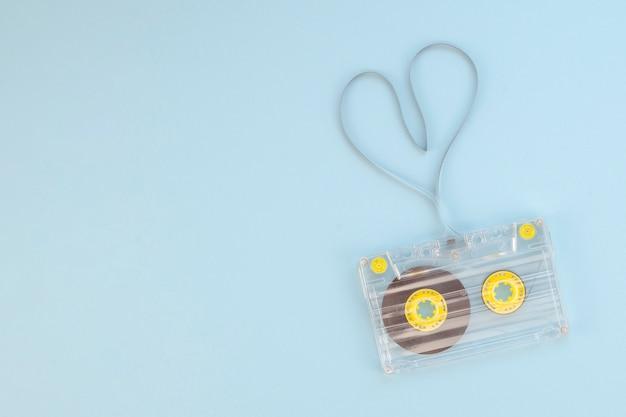 Cinta de cassette con concepto de corazón