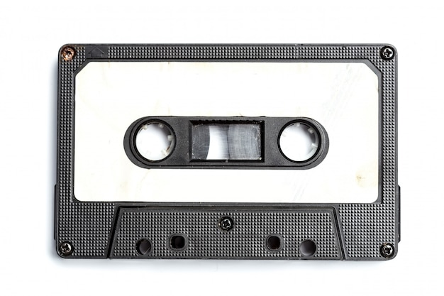 Cinta de cassette vintage aislado blanco
