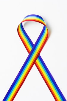 Cinta de primer plano en colores del arco iris