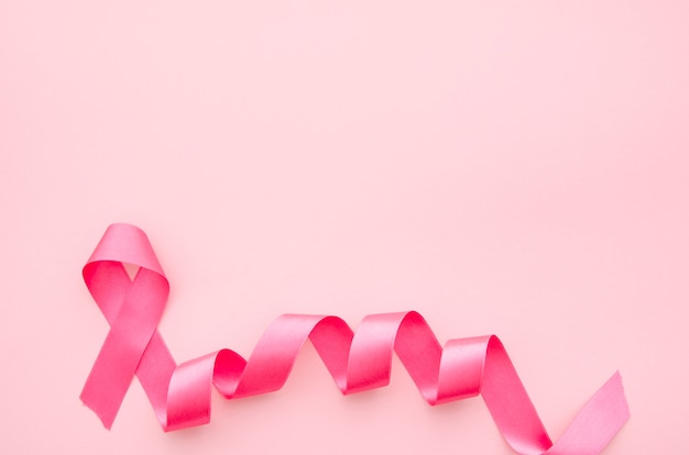 Cinta rosa para la concientización sobre el cáncer de mama