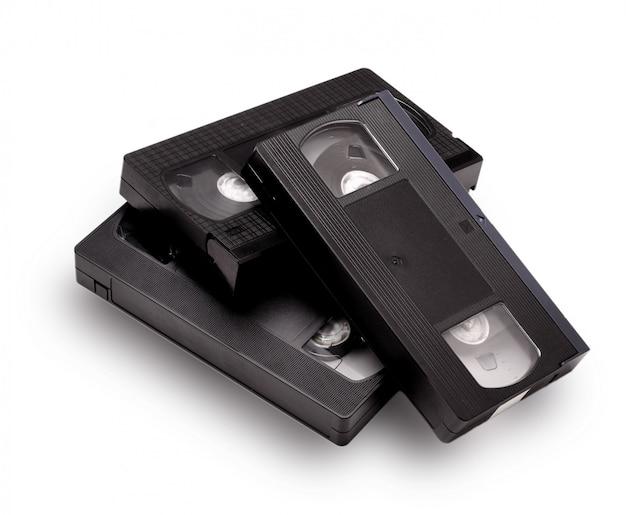 Cinta de videocasete vhs en blanco