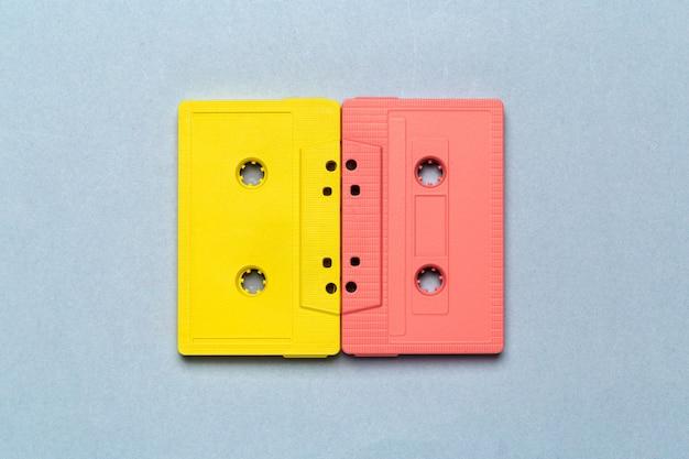Cintas de cassette retro brillantes