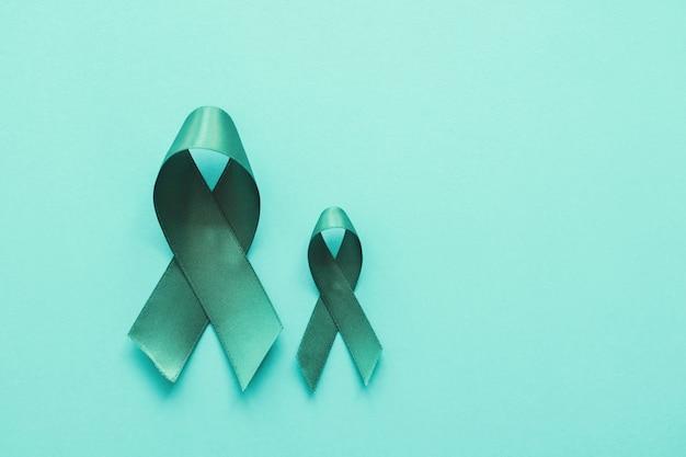 Cintas de color verde azulado, cáncer de ovario, cáncer cervical
