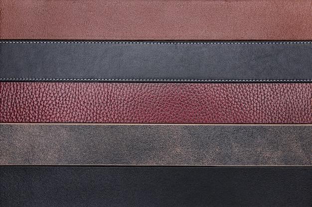 Cinturones de cuero natural oscuro