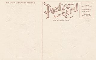 Circa blanco postal del vintage s