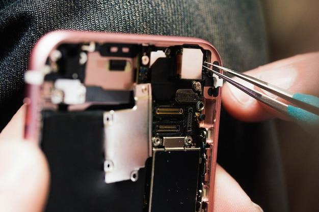 Circuito interno de un smartphone