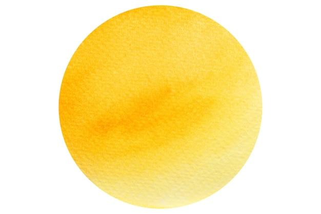 Círculo de acuarela naranja y amarilla