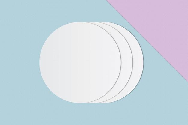 Círculo blanco papel y espacio para texto sobre fondo de color pastel
