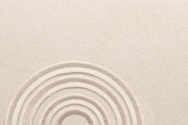 Círculo de fondo de arena zen en concepto de atención plena