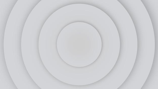 Círculos de hipnosis blancos geométricos de movimiento, fondo abstracto retro. estilo de ilustración 3d elegante y de lujo para negocios y plantillas corporativas