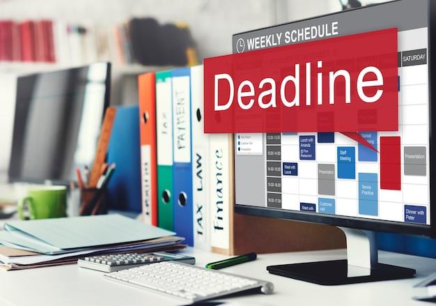 Cita de fecha límite tiempo final el concepto de urgencia de la cuenta regresiva final