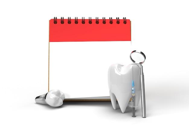 Cita con el médico con concepto de cirugía de implantes dentales herramienta de lápiz creado trazado de recorte incluido en jpeg fácil de componer.