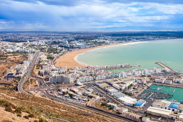 Ciudad de agadir, marruecos