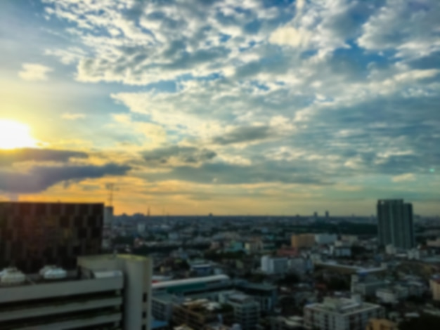 Ciudad borrosa abstracta de bangkok