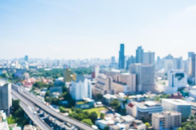 Ciudad borrosa vista desde alto