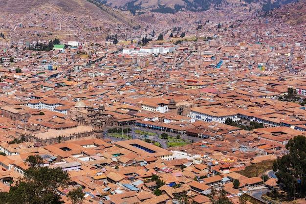 Ciudad colonial de cusco en perú