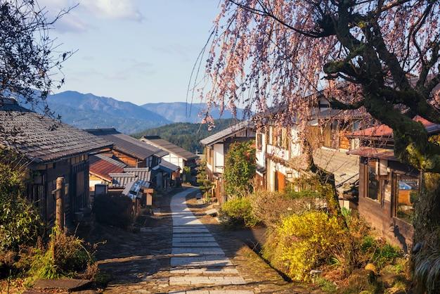 Ciudad de correos magome juku, valle de kiso