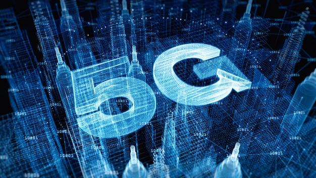 Ciudad digital ciberespacio digital conexión de alta velocidad 5g
