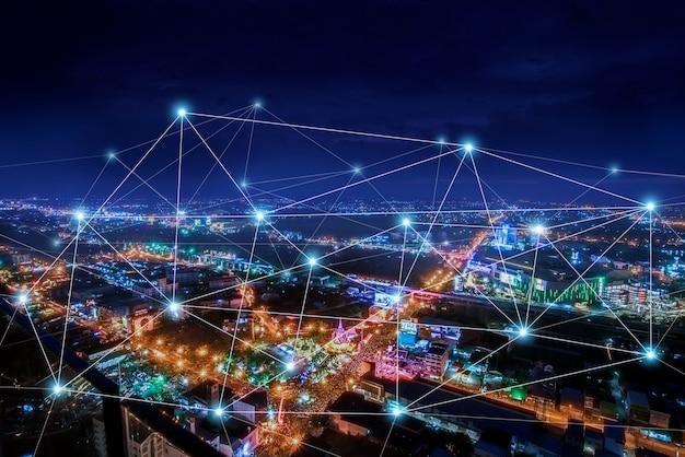 Ciudad inteligente y red de comunicación