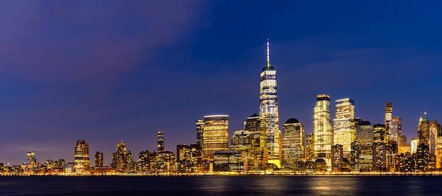 Ciudad de nueva york bajo manhattan
