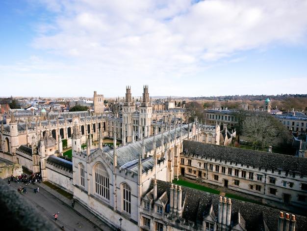 La ciudad de oxford desde la vista superior