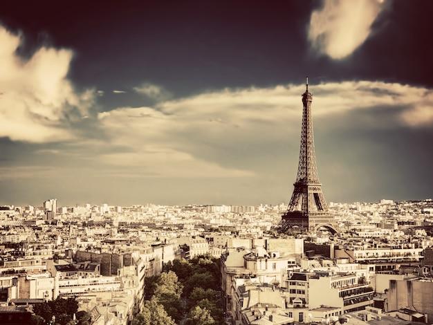 Ciudad de parís vista desde alto