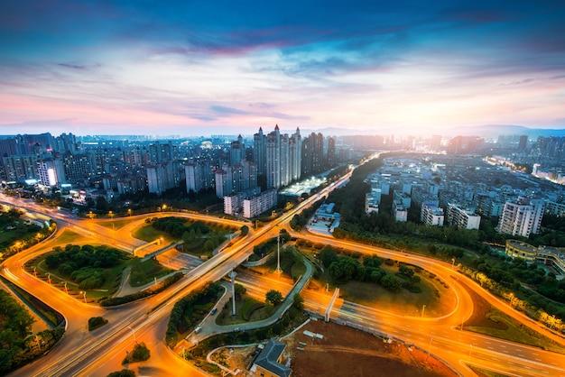 Ciudad scape de la china nanchang.