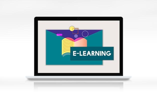 Clase en línea de conocimientos de aprendizaje electrónico