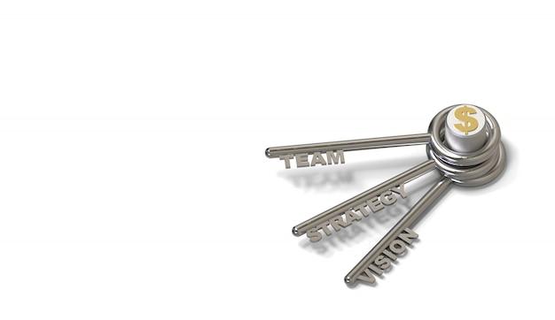 Claves para el éxito en blanco