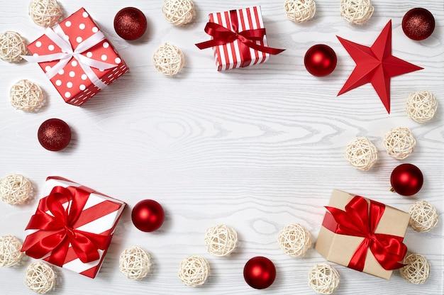 Close-up de cajas de regalo de navidad