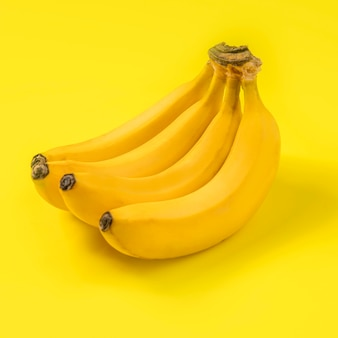 Close-up deliciosas bananas listas para ser servidas