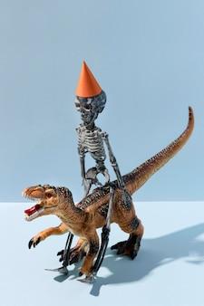 Close-up espeluznantes juguetes de halloween