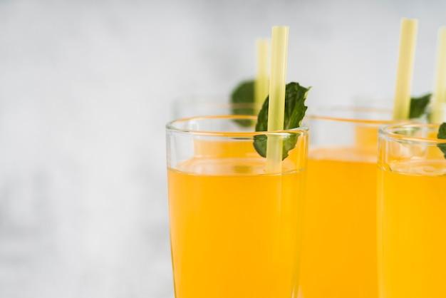Close-up limonada fresca