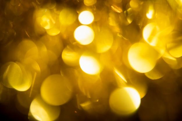 Close-up luces doradas brillantes