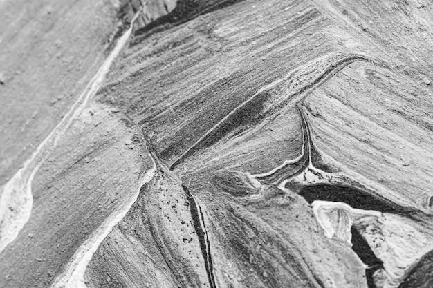 Close-up de remolinos de pintura en blanco y negro