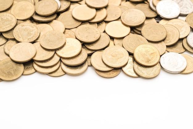 Close up texturas de monedas