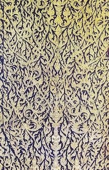 Closeup dorado del fondo contemporáneo del arte tailandés