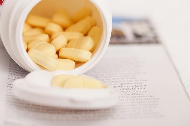 Closeup imagen de píldoras medicinales