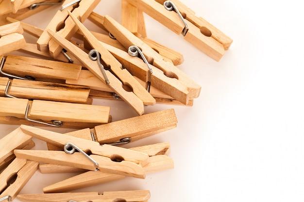 Closeup imagen de pinzas para la ropa ecológica