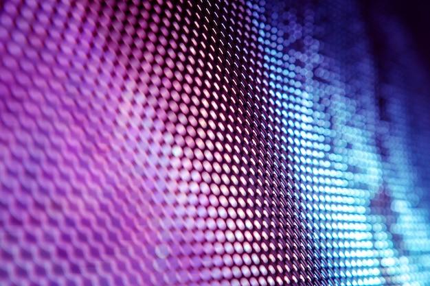 Closeup led pantalla borrosa. fondo de enfoque suave led