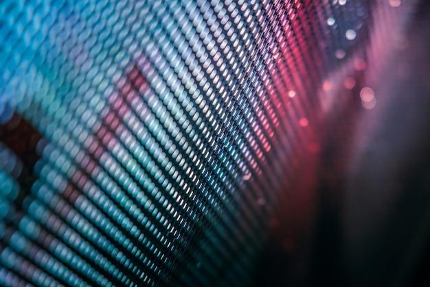Closeup led pantalla borrosa. fondo de foco suave led. fondo abstracto ideal para el diseño.