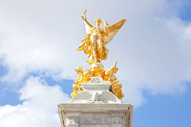 Closeup queen victoria memorial