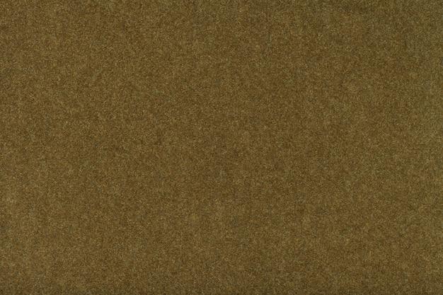 Closeup de tela de gamuza mate marrón oscuro