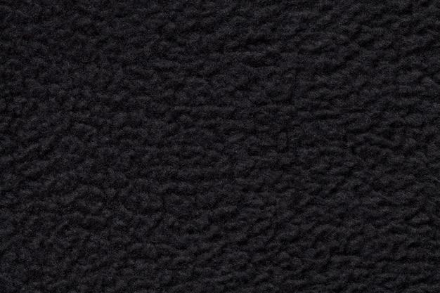 Closeup de tela de gamuza negra